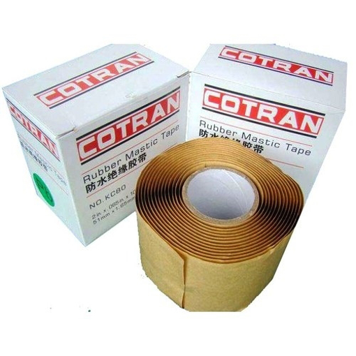 Picture of Waterproof Black Rubber Mastic Tape Cotran KC80, Length: 3 m